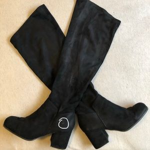 Wide calf knee high boots